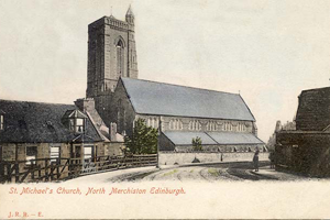 Historic Postcard of St Michael's Church
