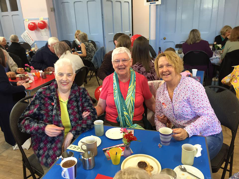 People attending coffee morning at St Michael's Church